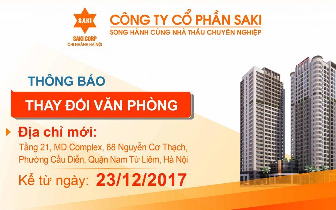 SAKI – Ho Chi Minh Office Address Change Notification